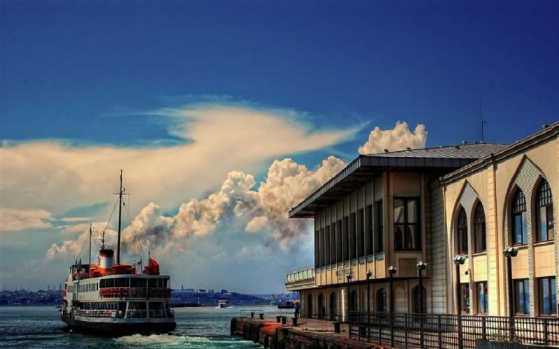 city scenery landscape turkey natural beauty turkiye Steamboat istanbul sky wallpaper