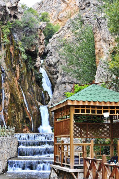darende landscape turkey natural beauty tree malatya gurpınar waterfall scenery malatya Photographer Fatih Oktay turkiye wallpaper