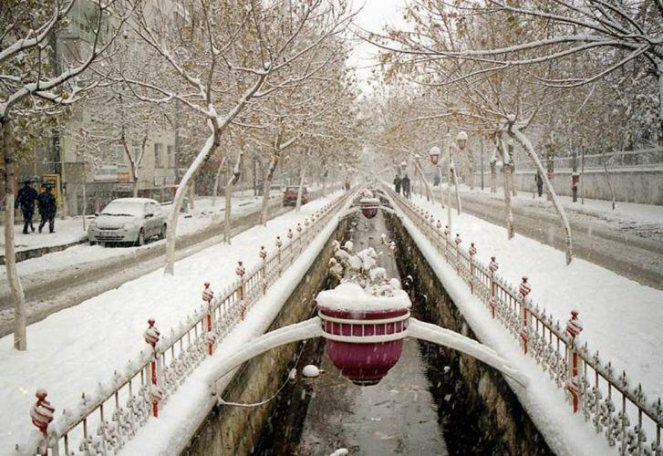 city scenery landscape turkey natural beauty tree malatya turkiye snow winter canal wallpaper