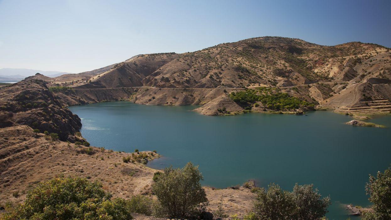 karakaya dam lake landscape turkey natural beauty tree malatya turkiye mountain wallpaper