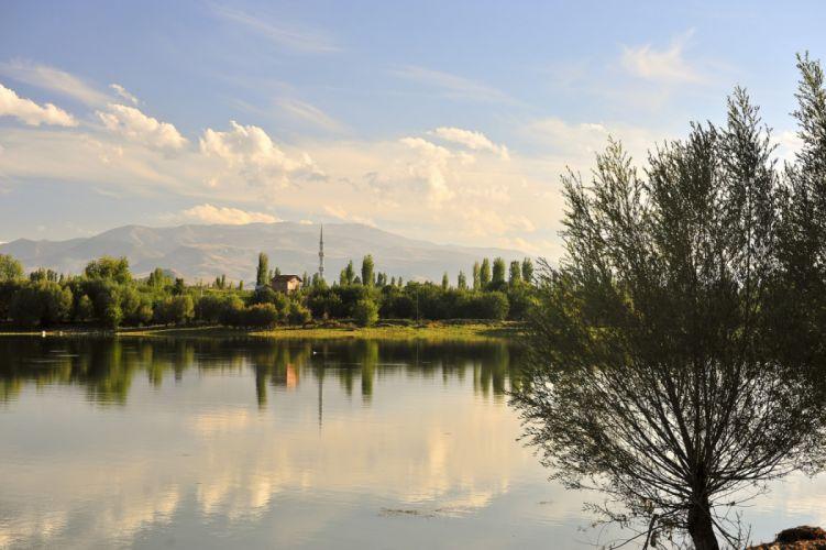 landscape turkey natural beauty tree malatya turkiye lake wallpaper