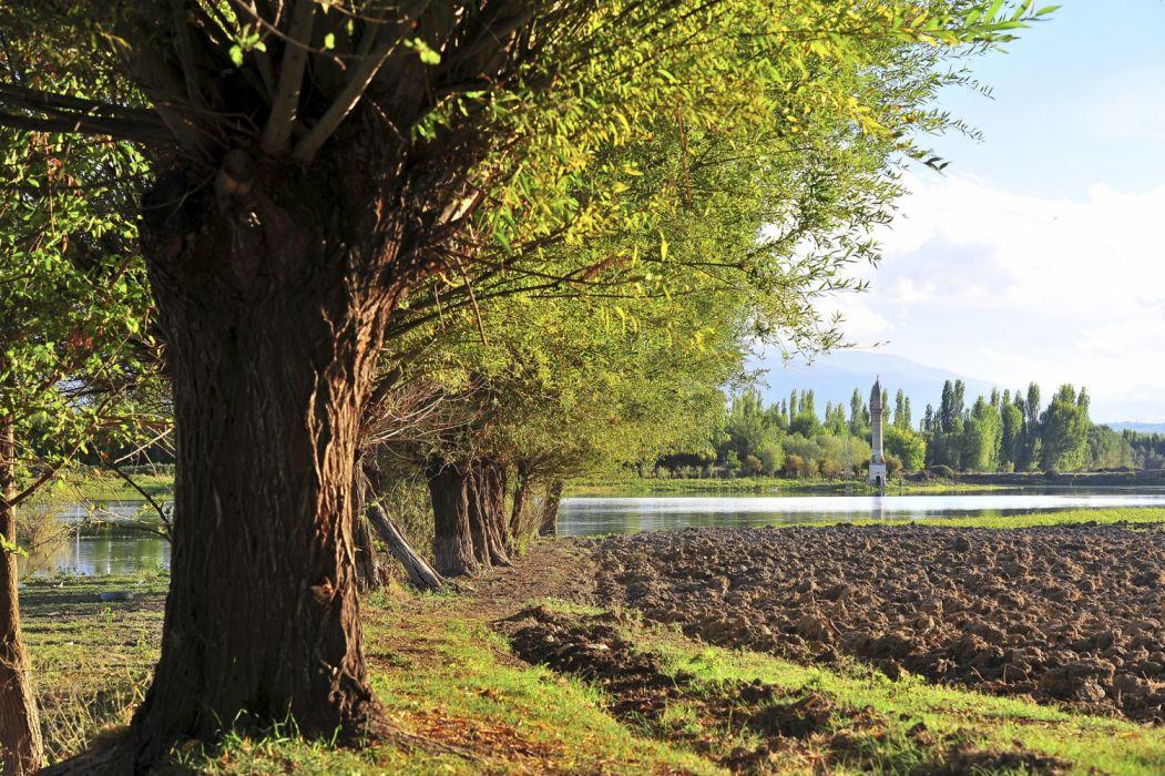 lake landscape turkey natural beauty tree malatya turkiye wallpaper