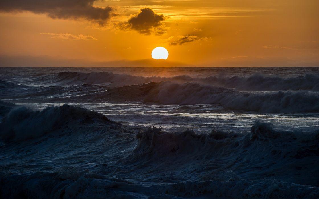 sea sky nature sun wallpaper