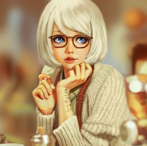 LemonCat Fantasy Girls Blue Eyes Girl Artistic Art wallpaper