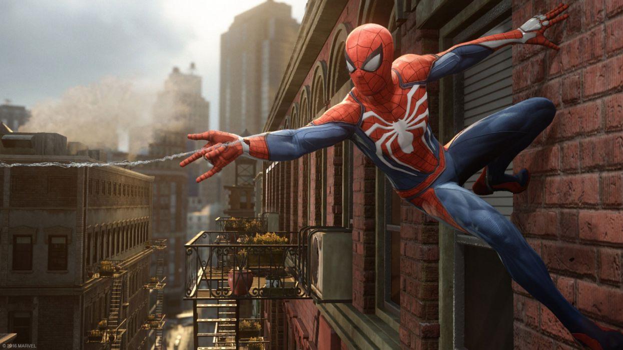 Games Spiderman PS4 2016 Game wallpaper