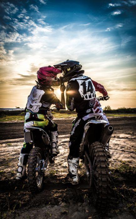 action active adventure bike biker couple danger freedom fun kiss leisure love man motocross motor sport motorbike motorcycle outdoors wallpaper