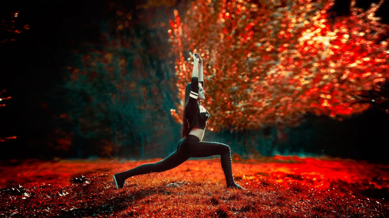 action adult athletic backlit blur exercise fall fashion festival fitness health landscape leaves light meditation outdoors people performance person wallpaper
