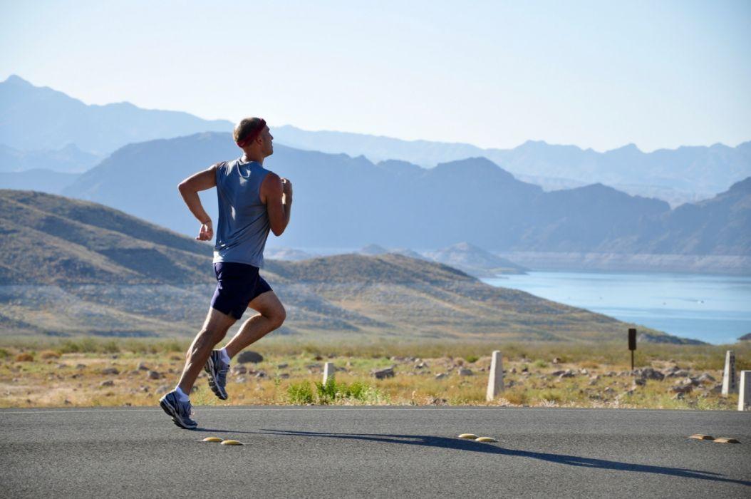 adventure athlete athletic daylight desert endurance fit fitness foggy hazy health jog jogging landscape leisure lifestyle male man misty motion wallpaper