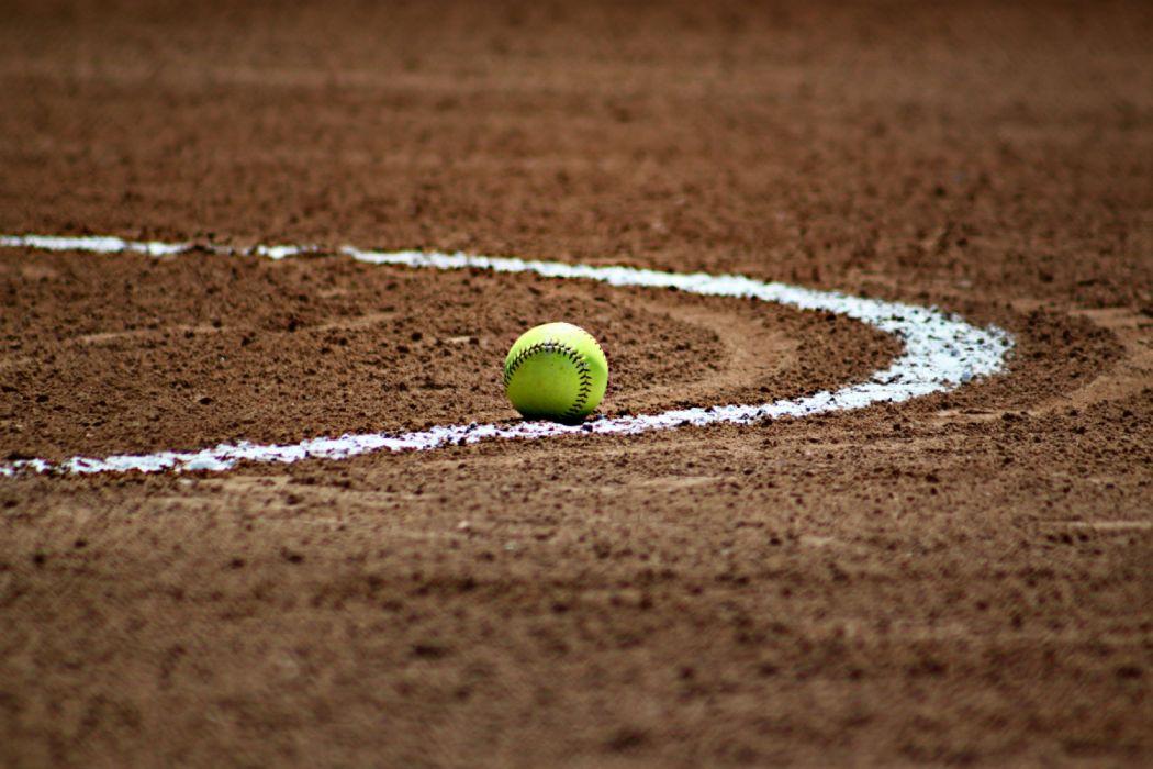 athletics ball baseball brown chalk dirt field game horizontal infield line softball sport sports background team sport wallpaper