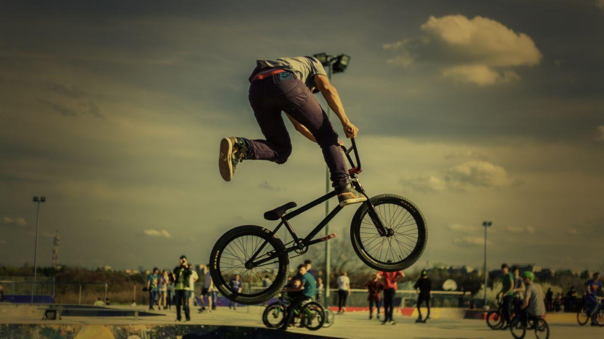 bicycle bike biker cyclist fun man outdoors person ride shoes sport training wallpaper