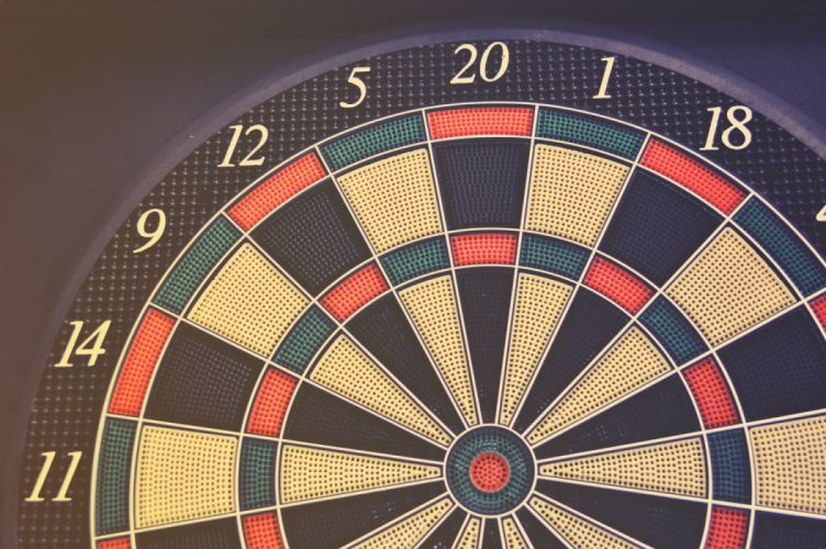 Red Green and Black Dartboard wallpaper