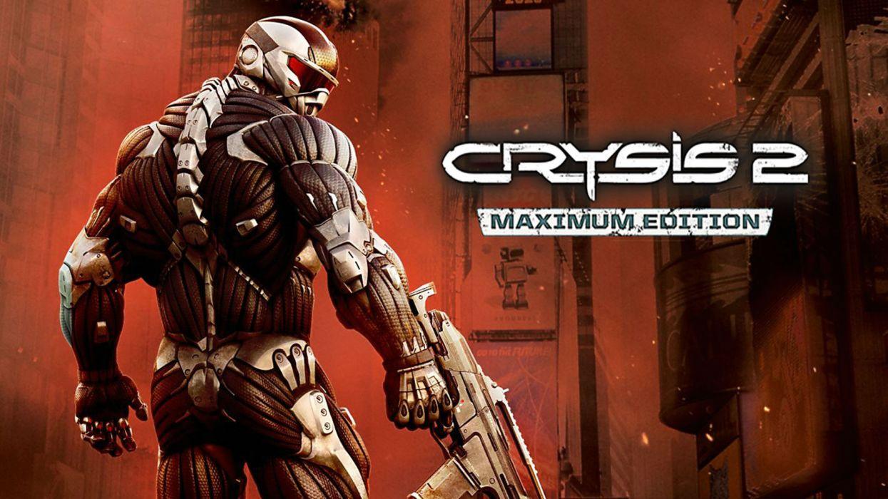 CRYSIS action armor fighting fps futuristic sci-fi shooter warrior technics robot cyborg nano nanosuit armored wallpaper