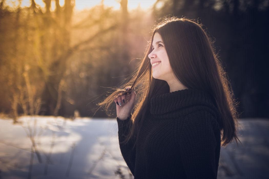 adult beautiful beauty blur cute fashion female forest girl happy joy model nature outdoors person pretty smile smiling snow woman young royalty free images wallpaper