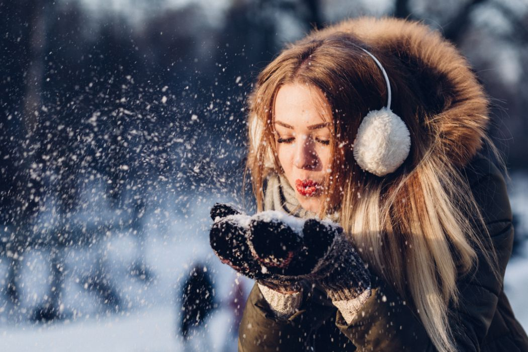 adult beautiful christmas cold cool enjoyment face fashion female frost fun girl hair model outdoors people person photoshoot playing portrait snow snowflake winter woman young wallpaper