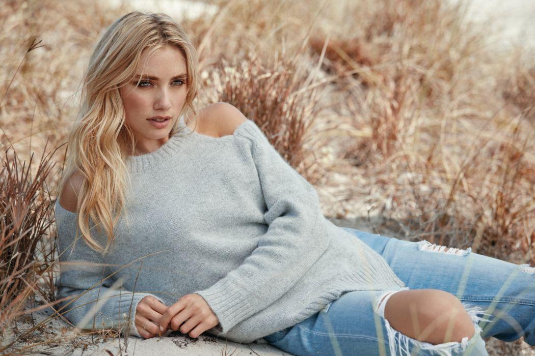 beautiful blond blonde fashion female girl grass model person pretty style woman wallpaper