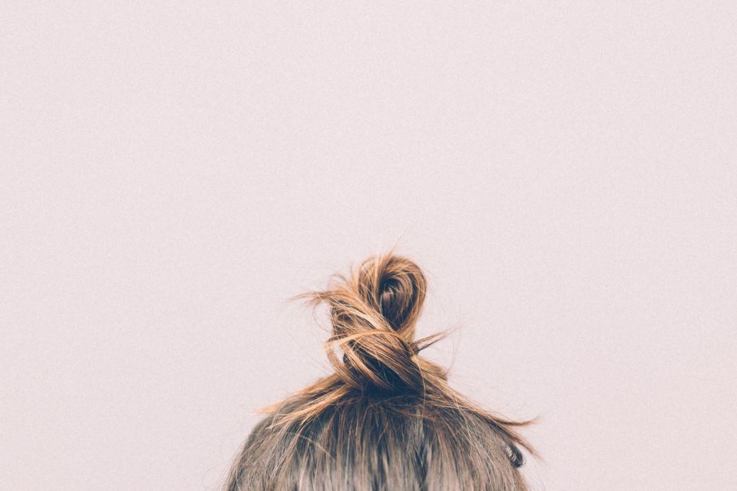 bun girl hairs style woman wallpaper