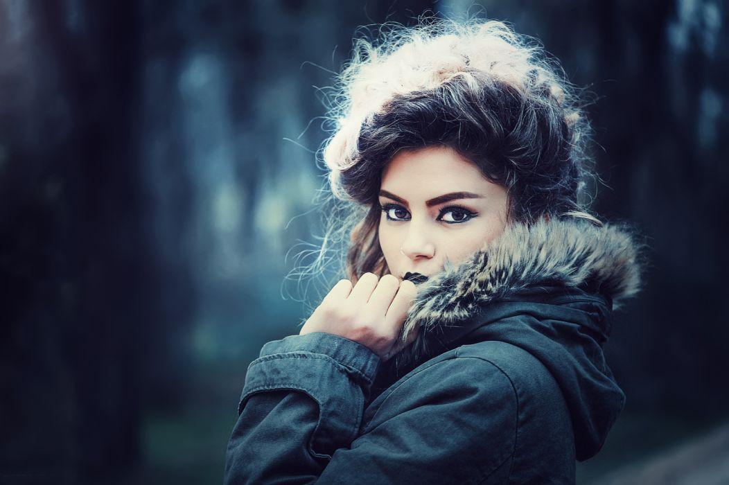 casual fashion girl makeup model photo shoot portrait woman wallpaper