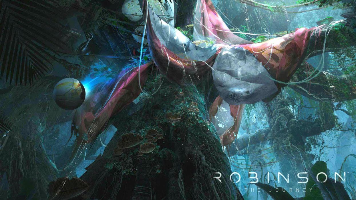 ROBINSON THE JOURNEY fps shooter fantasy virtual reality video game sci-fi futuristic dinosaur technics videogame 1rthej wallpaper