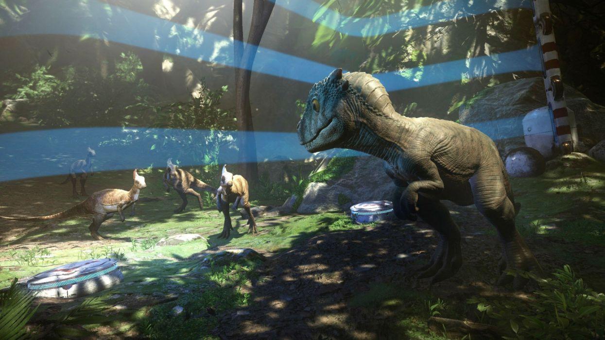 ROBINSON THE JOURNEY fps shooter fantasy virtual reality video game sci-fi futuristic dinosaur technics videogame 1rthej wallpaper