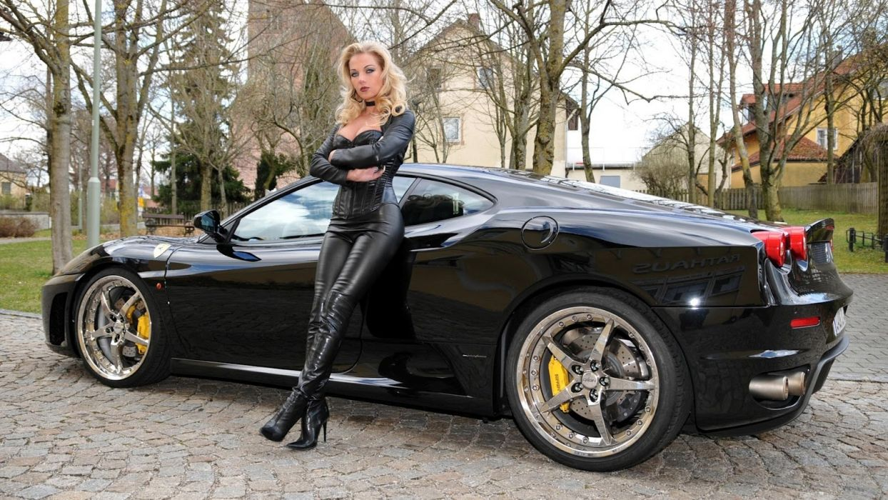 Machine sensuality sensual sexy girl woman model car legs knees leather legging pants boots stiletto blonde wallpaper