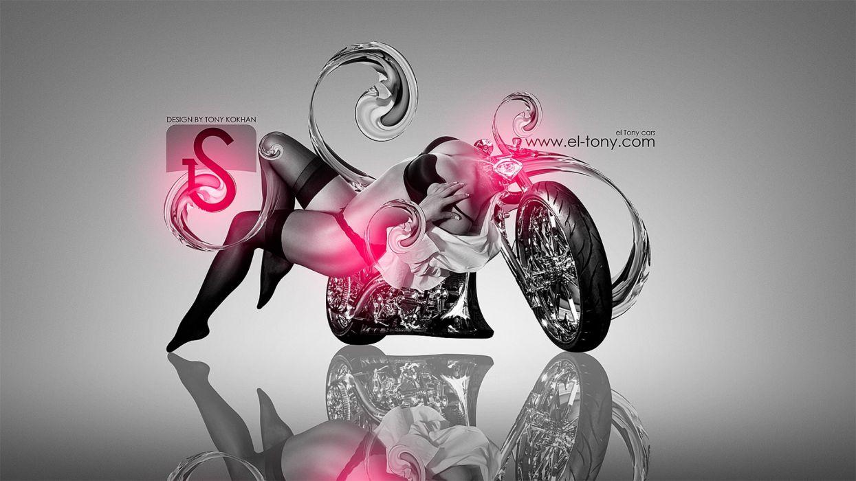 abstracto mujer moto sexy wallpaper