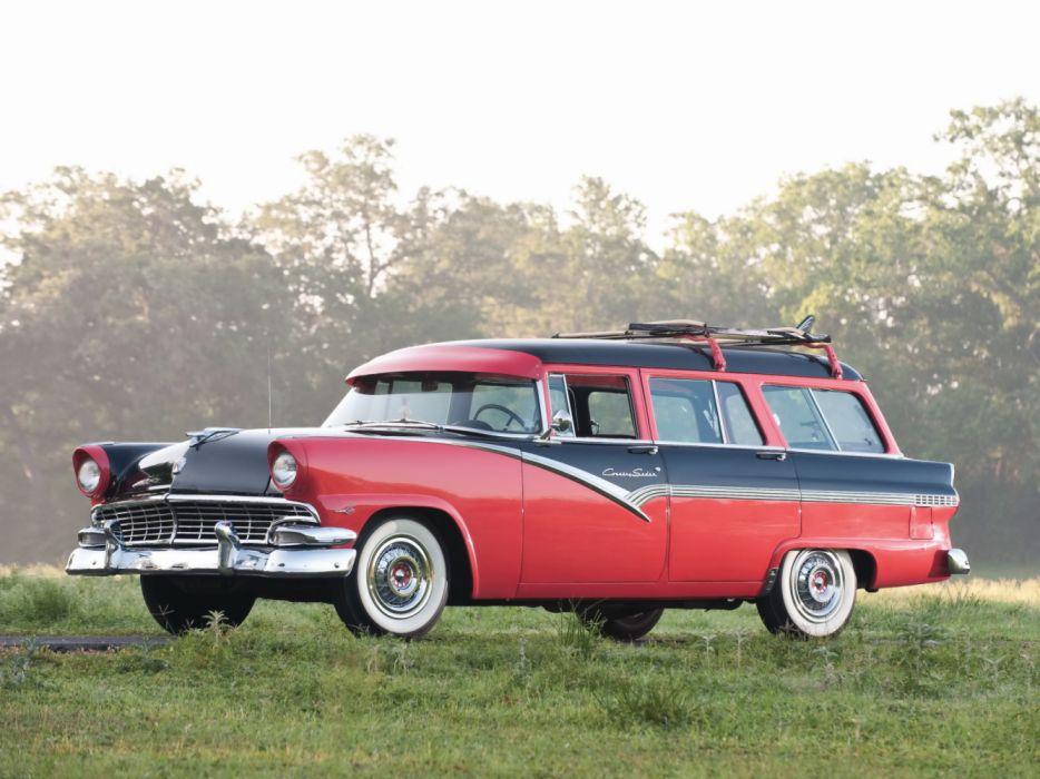 Ford Country Sedan 8-Passenger 1956 wallpaper