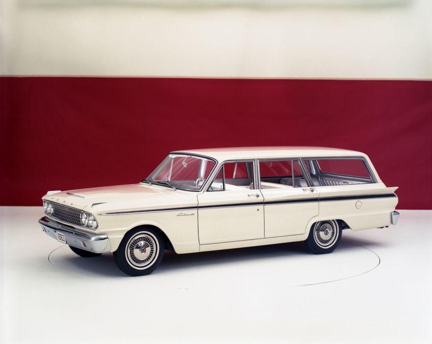 Ford Fairlane 500 Ranch Wagon 1963 wallpaper