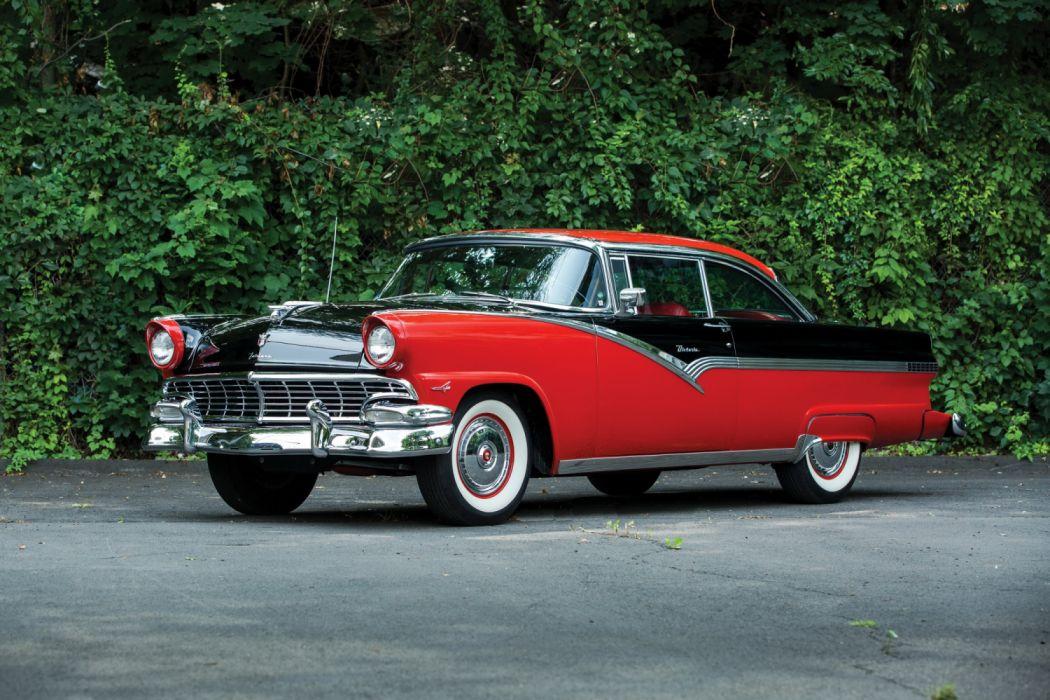 Ford Fairlane Victoria Hardtop Coupe 1956 wallpaper