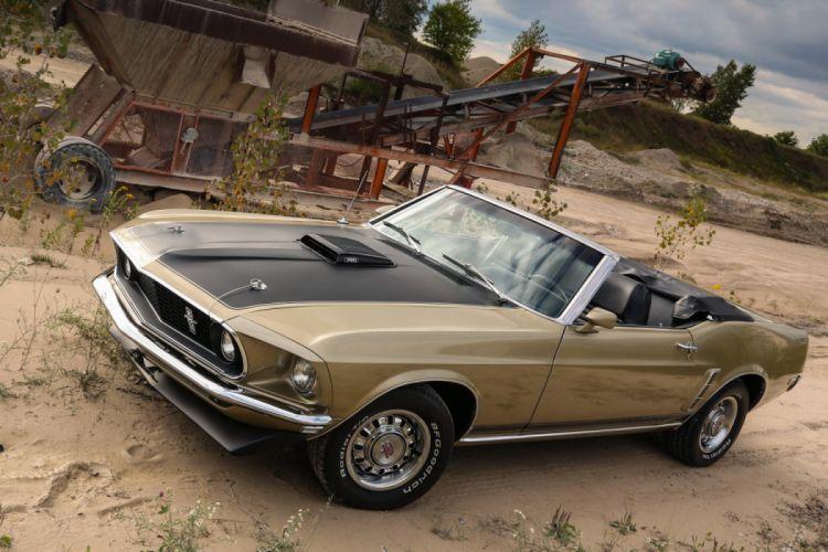 Ford Mustang GT 390 Convertible 1969 wallpaper