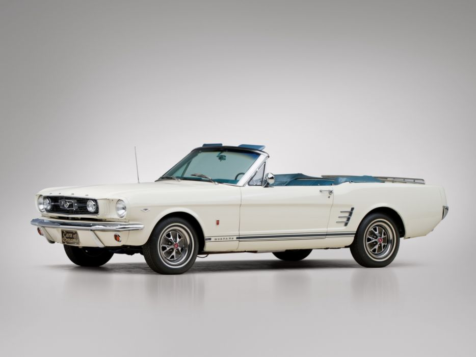 Ford Mustang GT C-Code 289-200 HP Luxury Convertible 1966 wallpaper