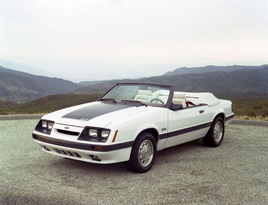 Ford Mustang GT 5 0 Convertible 1985 wallpaper