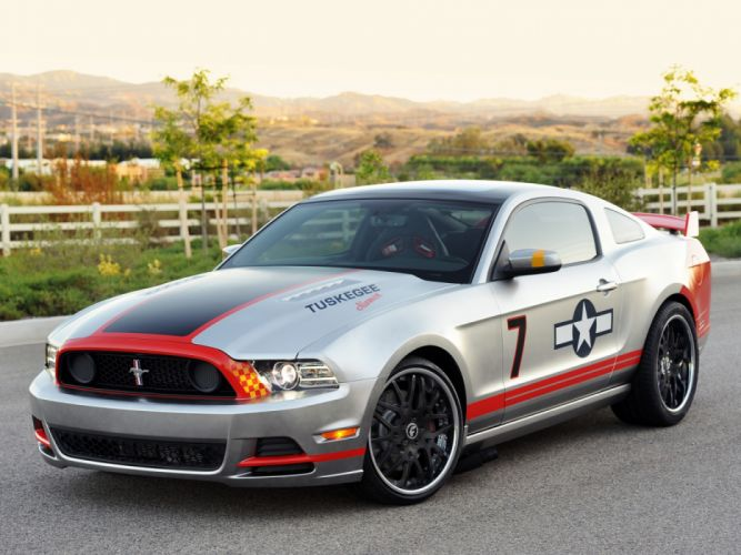 Ford Mustang GT Red Tails 2012 wallpaper