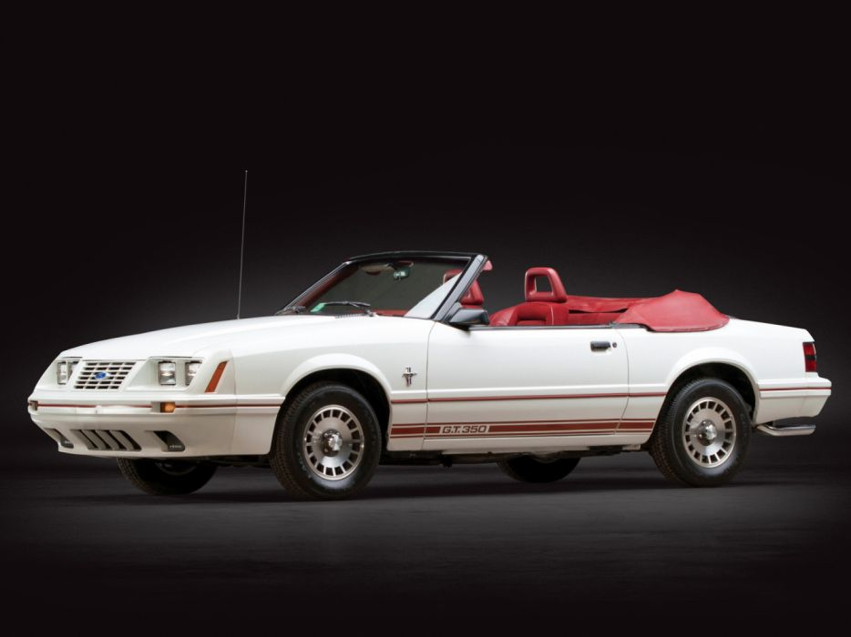 Ford Mustang GT350 Turbo Convertible Anniversary Edition 1984 wallpaper