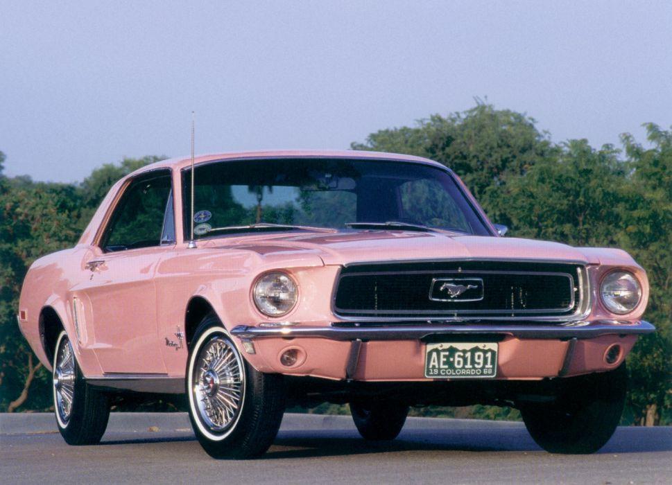 Ford Mustang Passionate Pink 2-door Hardtop 1968 wallpaper