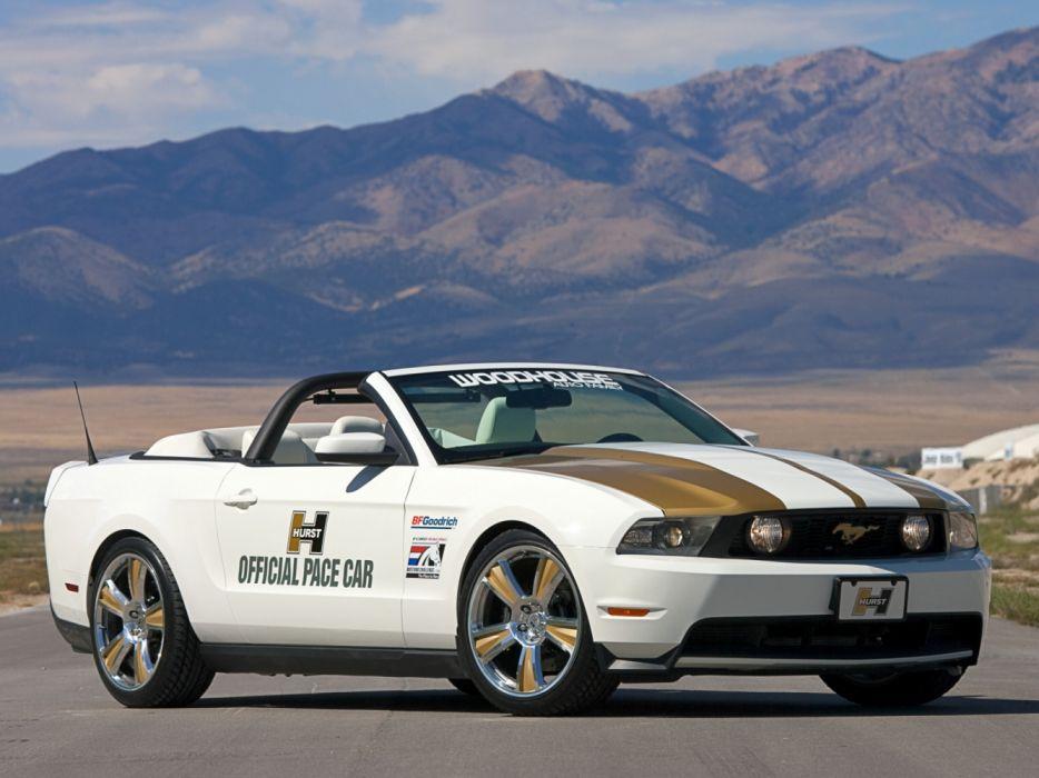 Hurst Ford Mustang Convertible Pace Car 2009 wallpaper