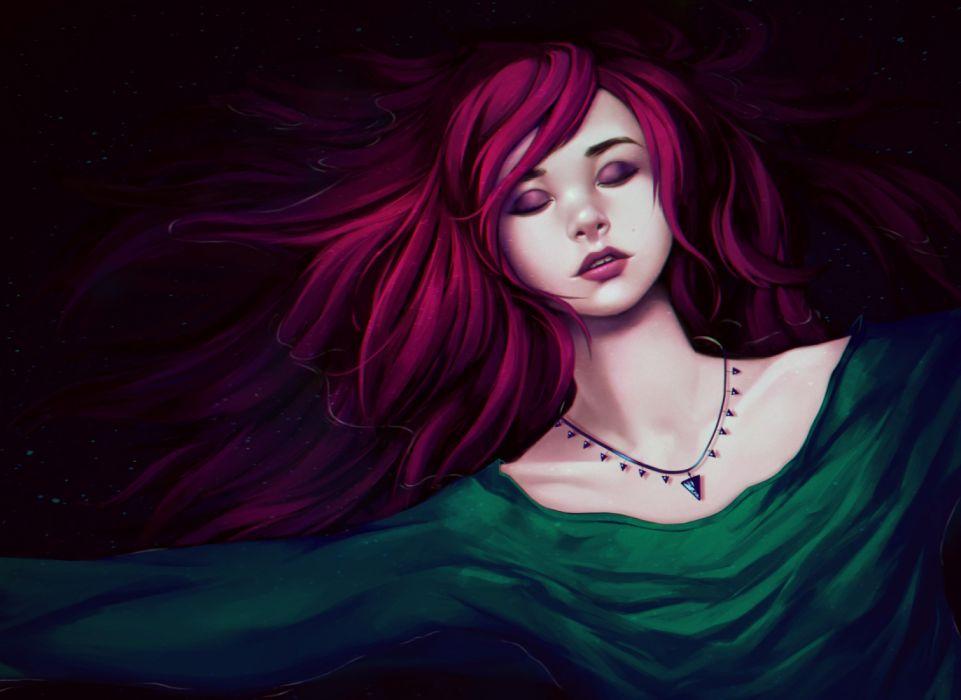 fantasy girl pik hair wallpaper