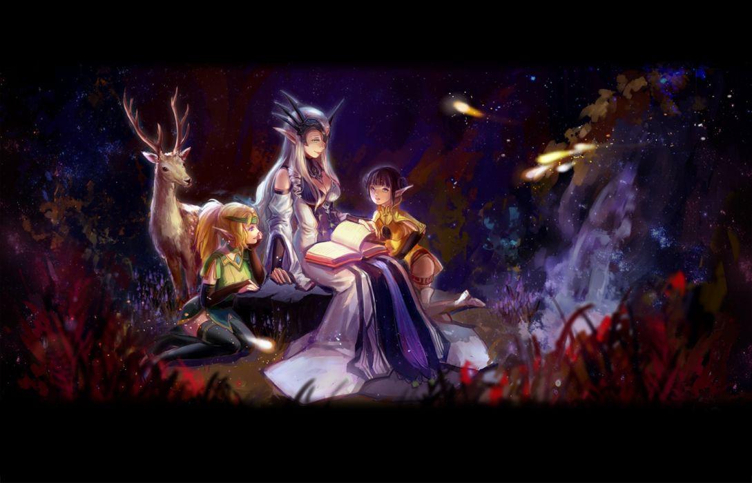 fantasy elf woman child beauty wallpaper