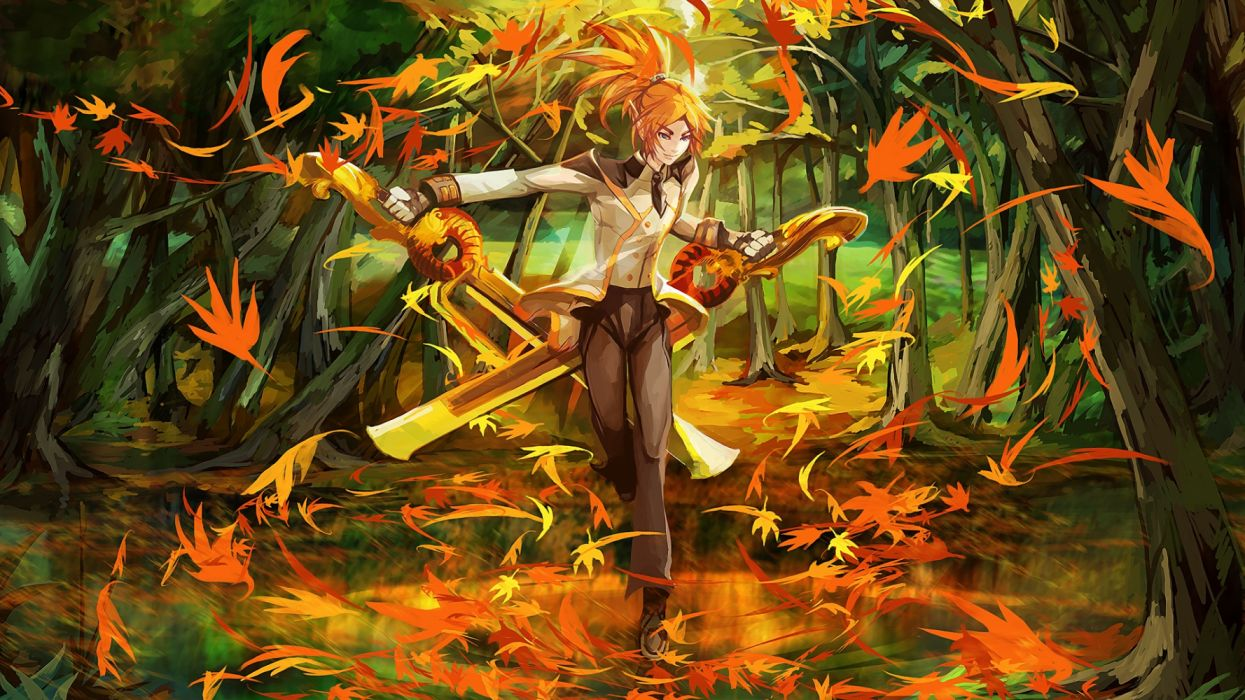 fantasy elf boy forest magic wallpaper
