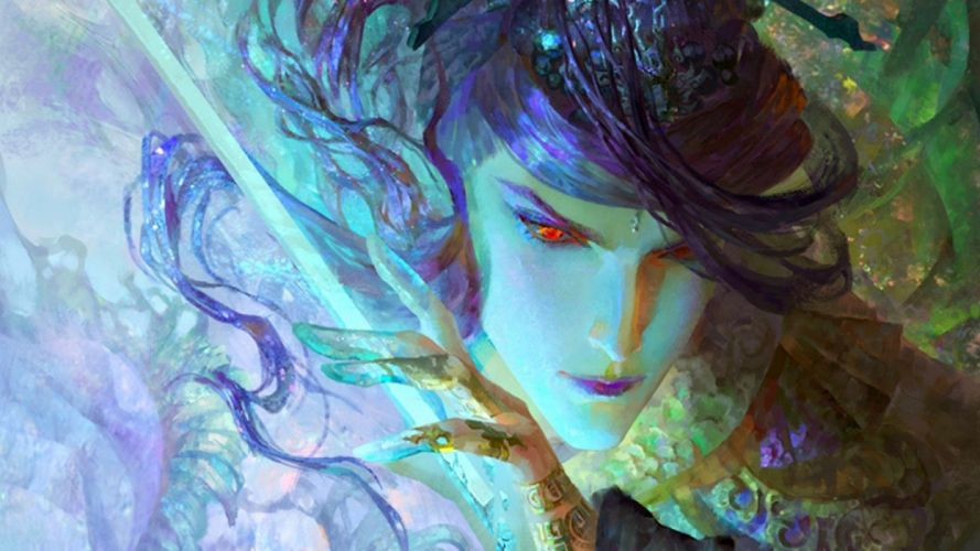 fantasy beauty male elf face wallpaper