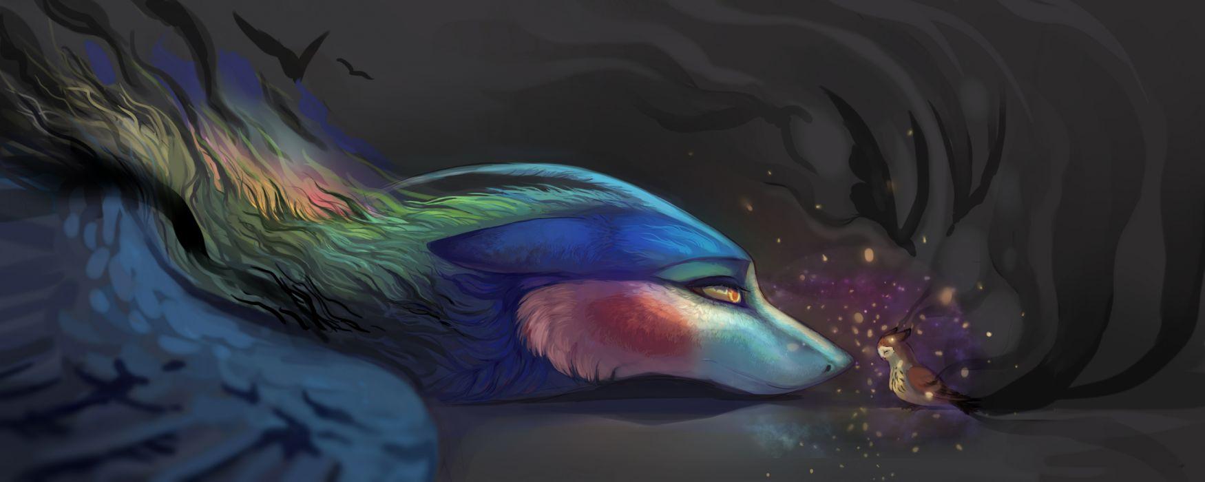 fantasy birds magic beauty wallpaper
