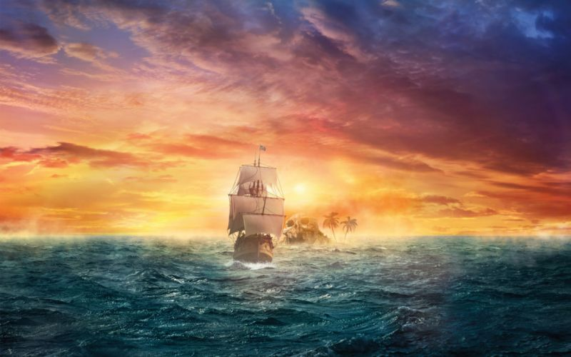 Creative Pirate Sail wallpaper