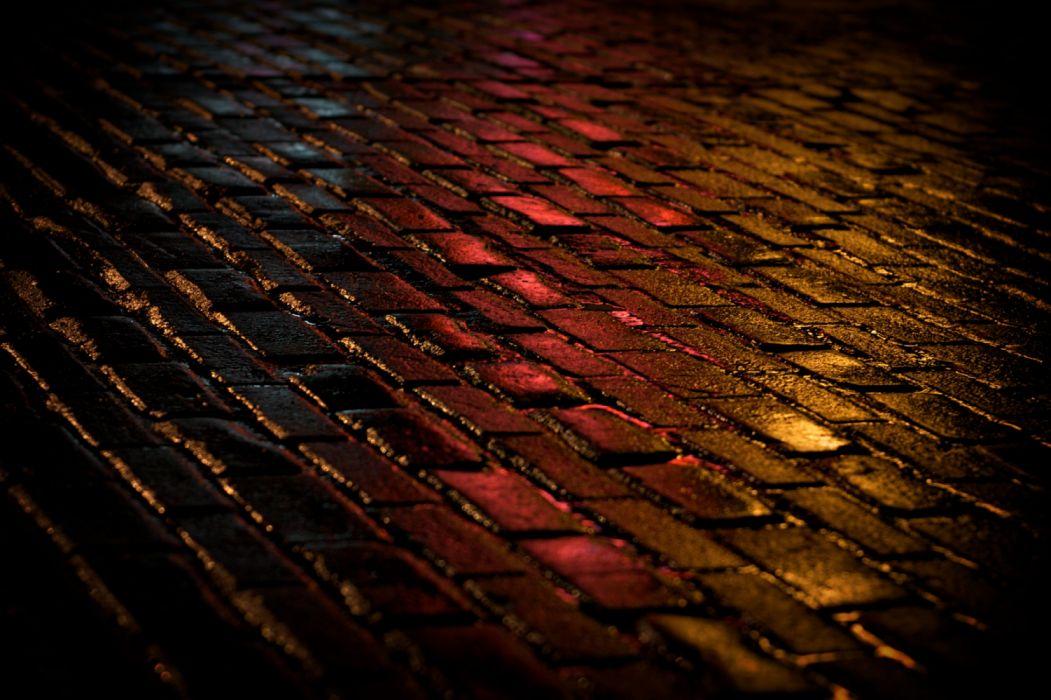 asfalt street light night wallpaper