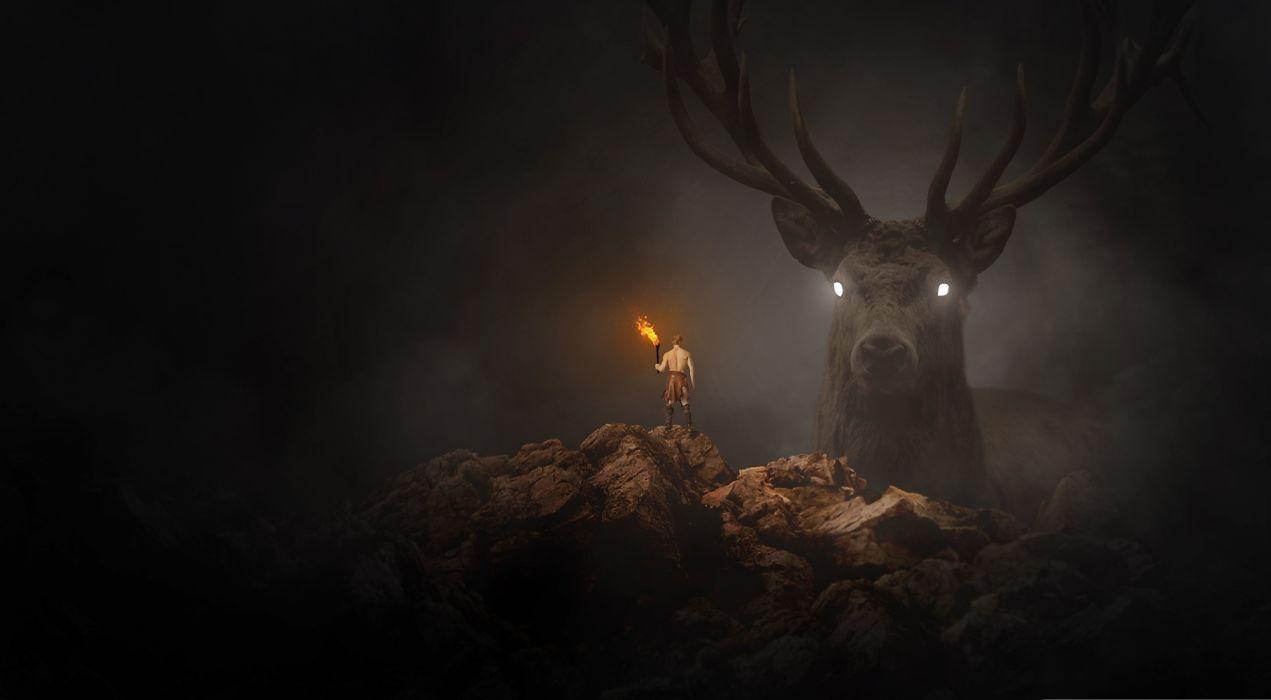 Artist Revenge On The Hunter fantasy wallpaper
