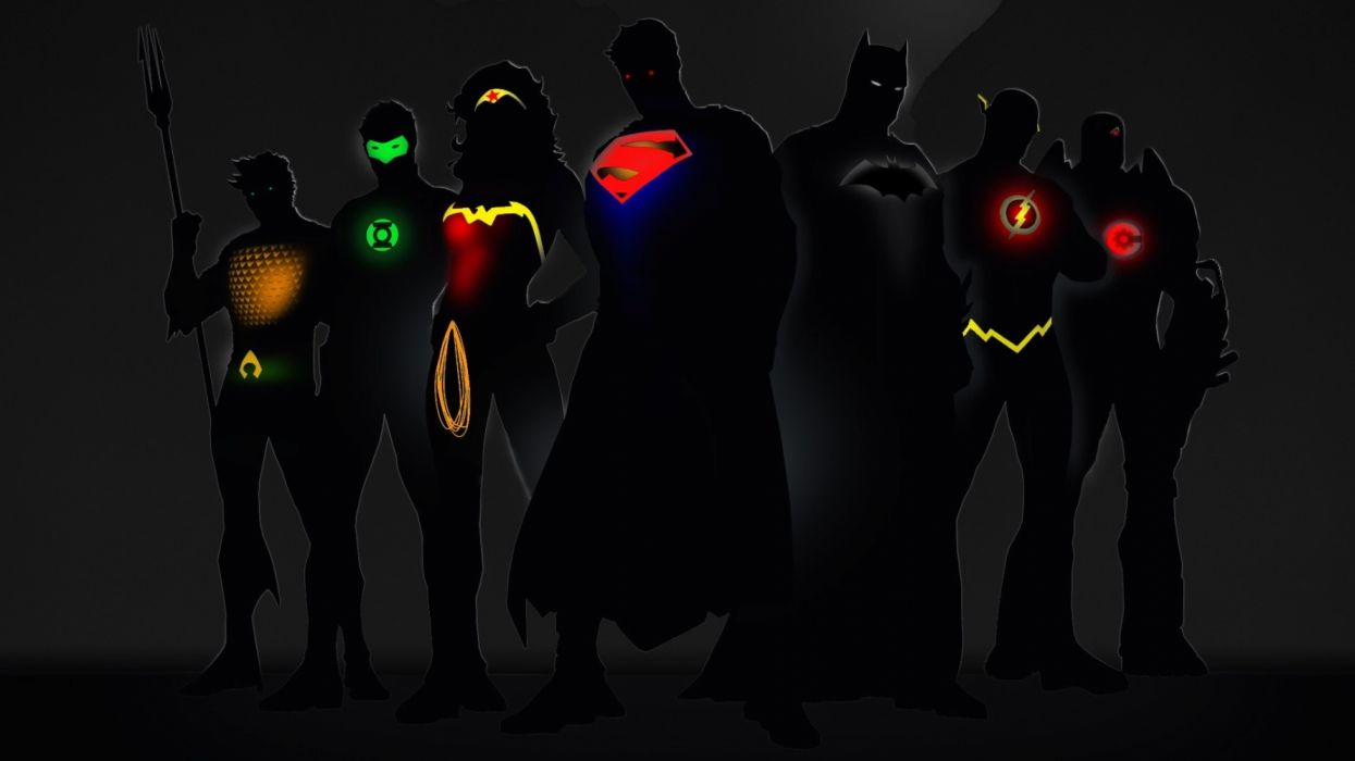 Artist Dc Comics Superheroes Minimalism wallpaper