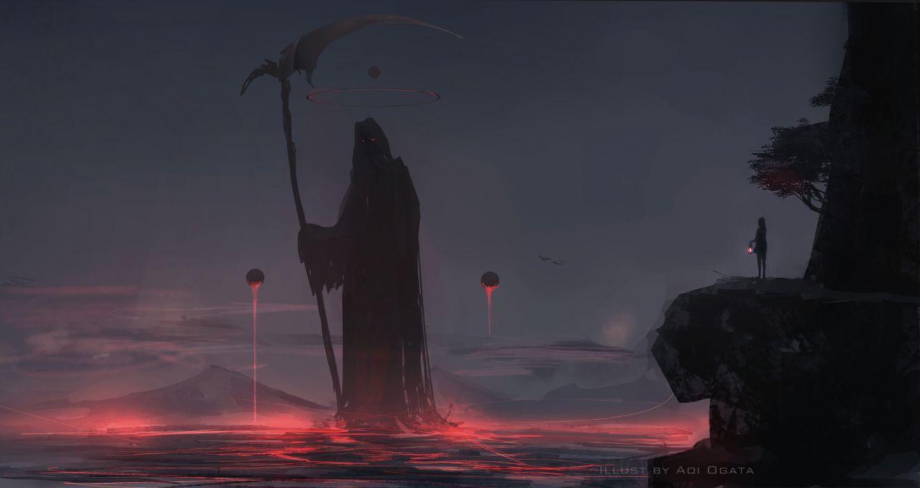 Artist Grim Reaper fantasy wallpaper