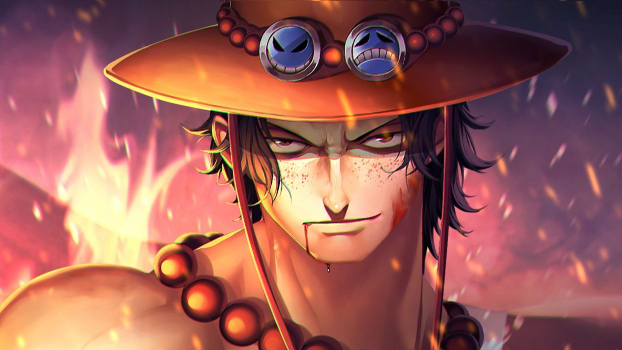 Anime Portgas D Ace male character wallpaper