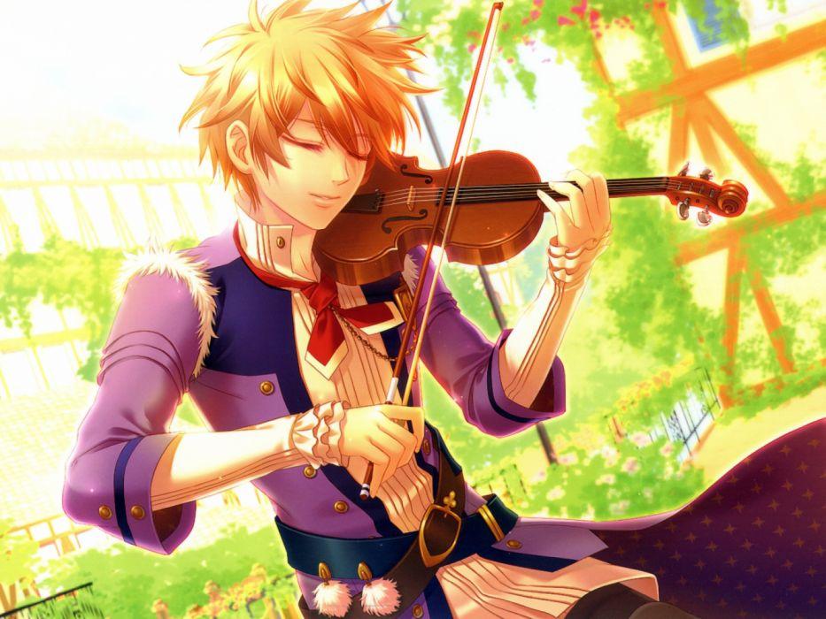 anime viplin music boy blond wallpaper