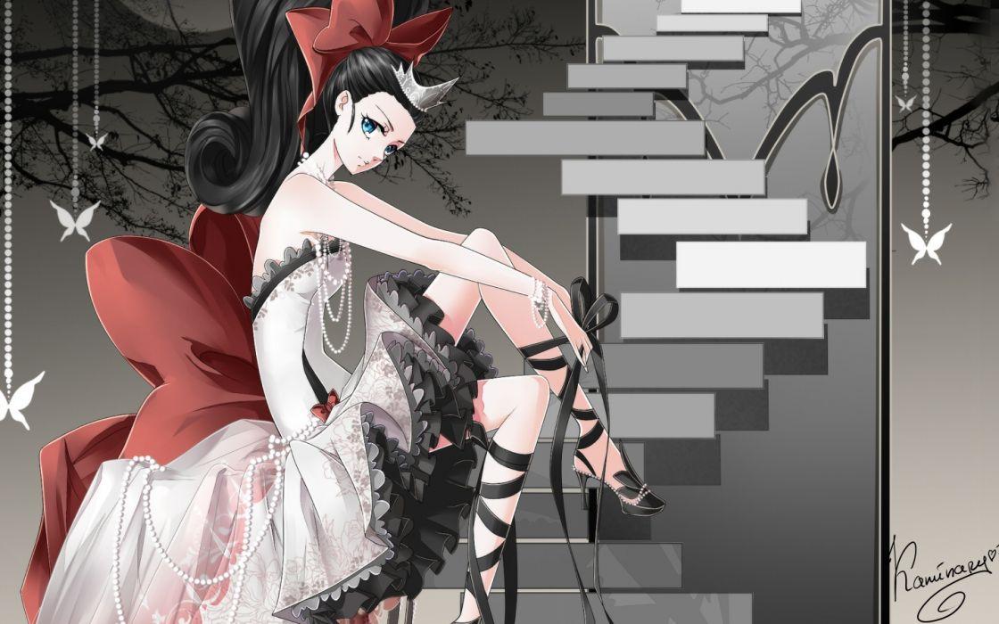 anime dress girl cute wallpaper