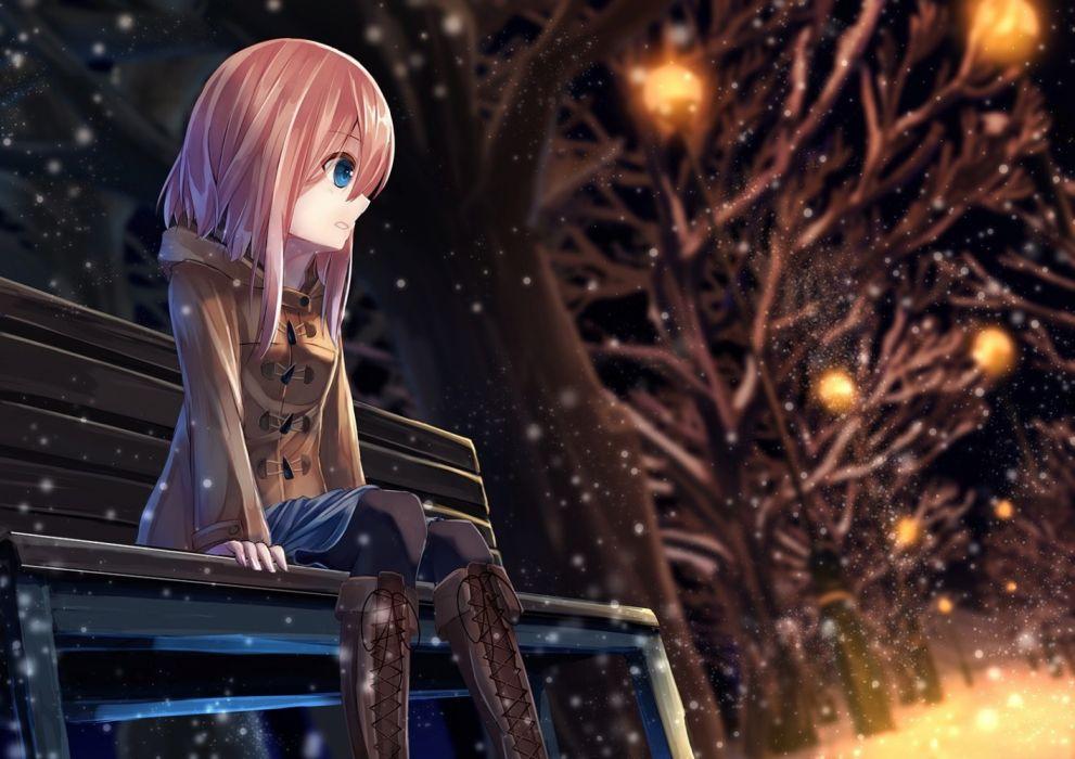 Anime Anime Girl Alone wallpaper