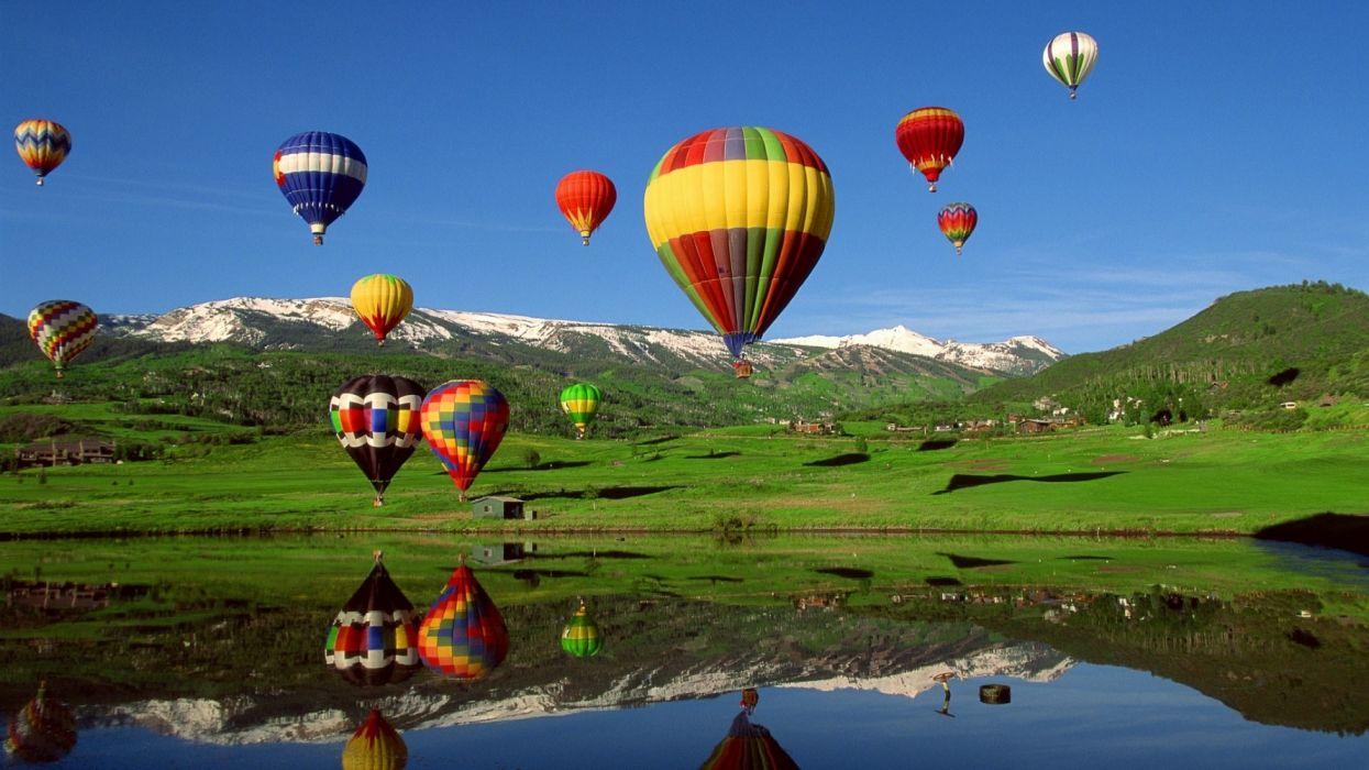 globos aerostaticos naturaleza paisaje wallpaper